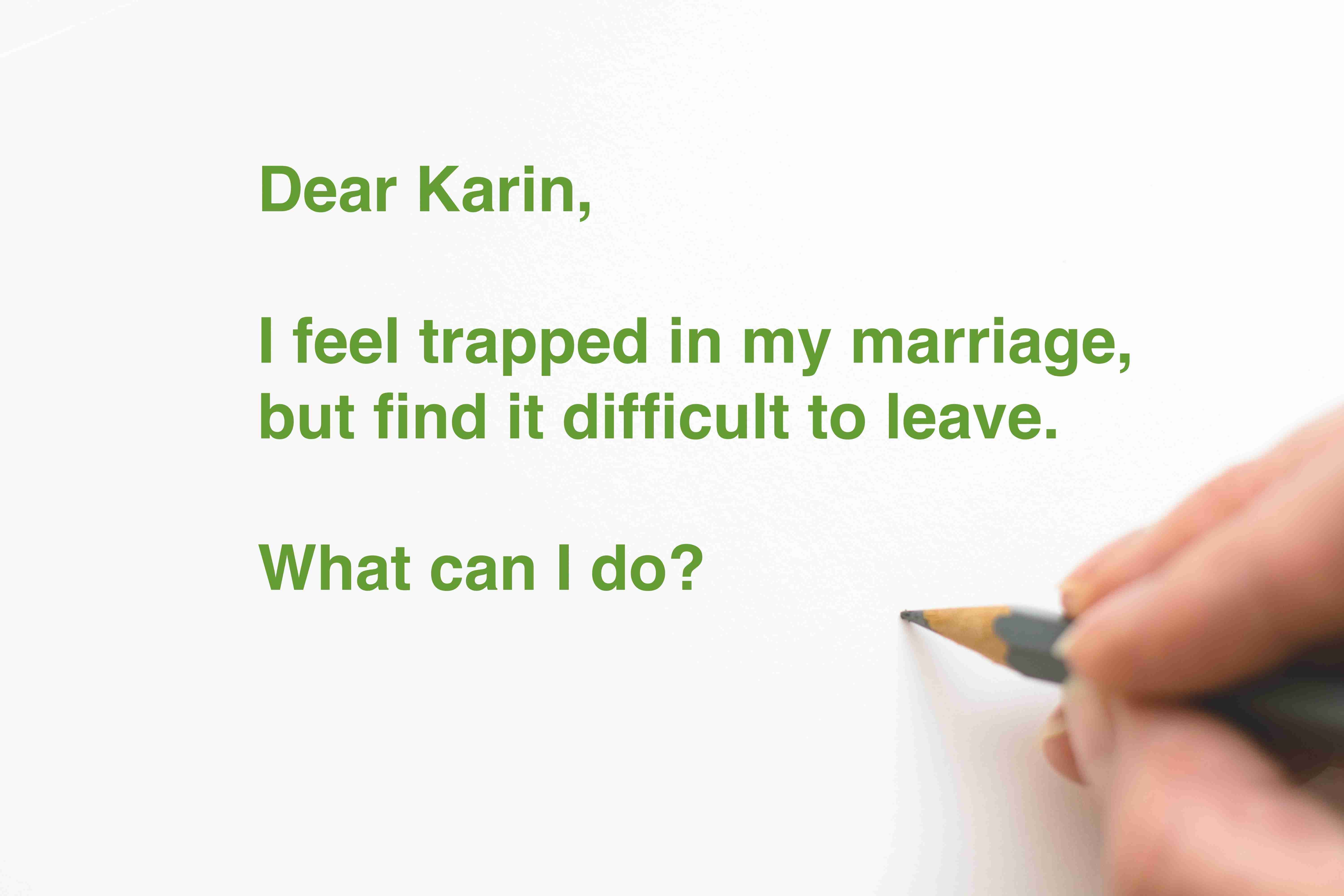 Dear Karin – Coping with a difficult marriage (c) KarinSieger.com